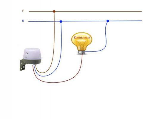Schema Elettrico Sensore Di Movimento : Interruttore crepuscolare e infrarossi